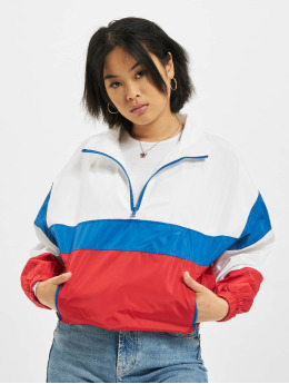 Urban Classics Lightweight Jacket 3-Tone Stand Up Collar Pull Over white