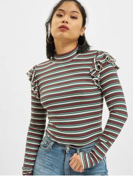 Urban Classics Longsleeve Rib Striped Volant wit