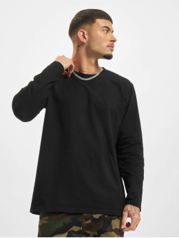 Urban Classics Longsleeves Stretch Terry čern