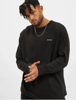 Urban Classics Longsleeves Oversize Cut On Sleeve Logo čern