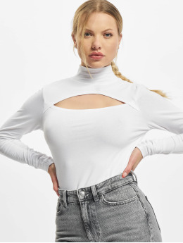 Urban Classics Longsleeves Ladies Cut-Out Turtleneck  bialy