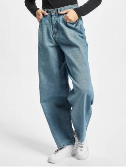 Urban Classics Loose Fit Jeans Ladies High Waist 90´s Wide Leg niebieski
