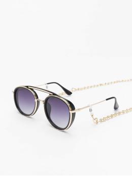 Urban Classics Lunettes de soleil Sunglasses Ibiza With Chain noir