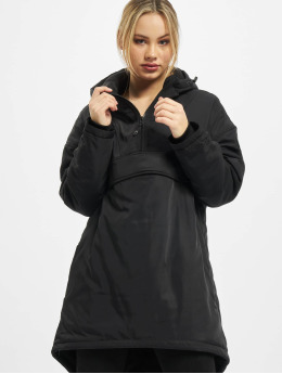 Urban Classics Manteau hiver Ladies Long Oversized Pull Over noir