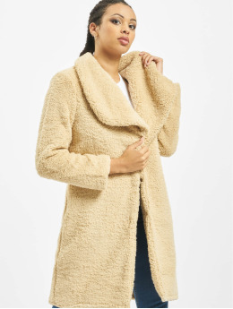 Urban Classics Frauen Mantel Soft Sherpa in beige