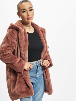 Urban Classics Mantel Hooded Teddy rosa