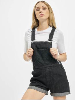 Urban Classics Nohavice na traky Ladies Short èierna