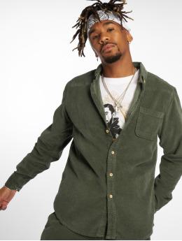 Urban Classics overhemd Corduroy olijfgroen