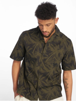 Urban Classics overhemd Pattern Resort olijfgroen
