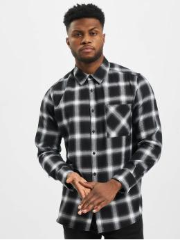 Urban Classics overhemd Oversized Checked zwart