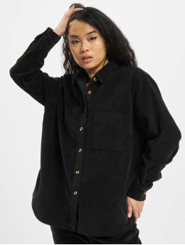 Urban Classics overhemd Ladies Corduroy Oversized zwart