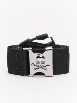 Urban Classics Pásky Skull Buckle čern