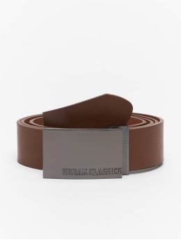 Urban Classics Pásky Imitation Leather Business hnědý