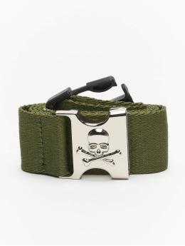 Urban Classics Pásky Skull Buckle olivový