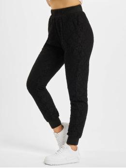 Urban Classics Pantalon chino Lace Jersey Jog noir