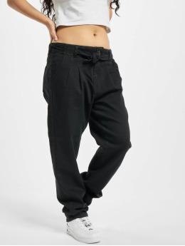 Urban Classics Pantalon chino High Waist Knitted noir