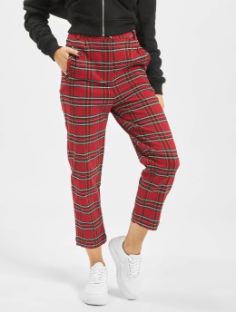 Urban Classics Pantalon chino Checker rouge