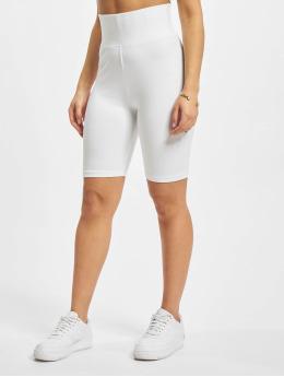Urban Classics Pantalón cortos Ladies High Waist Cycle blanco