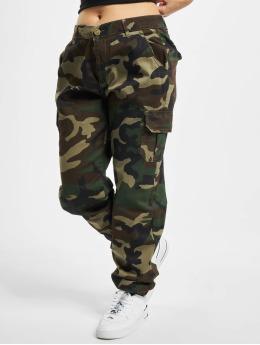 Urban Classics Pantalone Cargo Ladies High Waist Camo mimetico