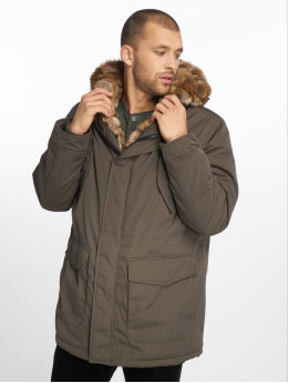 Urban Classics Parka Hooded Faux Fur oliven