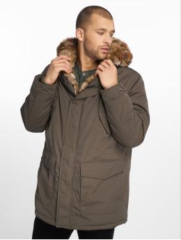 Urban Classics Parka Hooded Faux Fur oliwkowy