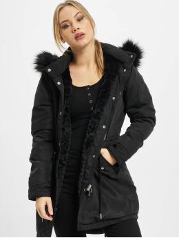 Urban Classics Parka Ladies Faux Fur schwarz