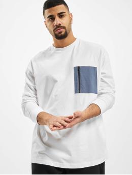 Urban Classics Pitkähihaiset paidat Boxy Big Contrast Pocket  valkoinen