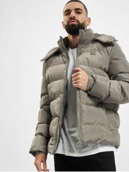 Urban Classics Prešívané bundy Hooded Puffer šedá