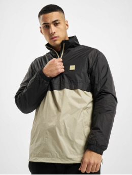 Urban Classics Prechodné vetrovky Stand Up Collar Pull Over èierna