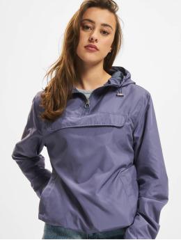 Urban Classics Prechodné vetrovky Ladies Basic modrá