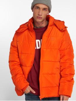 Urban Classics Prošívané bundy Hooded oranžový