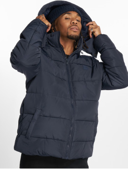 Urban Classics Puffer Jacket Hooded blau