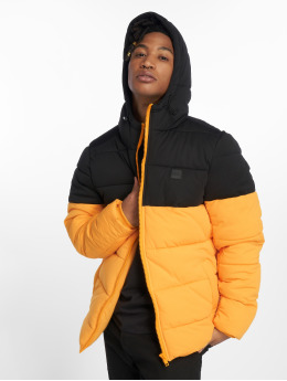 Urban Classics Männer Puffer Jacket Hooded 2-Tone in gelb