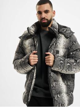 Urban Classics Puffer Jacket Hooded AOP  grau