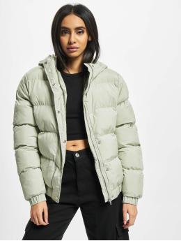Urban Classics Puffer Jacket Ladies Hooded green