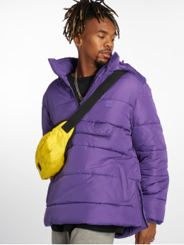 Urban Classics Puffer Jacket Pull Over purple
