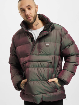 Urban Classics Puffer Jacket Shimmering Pull Over  rot