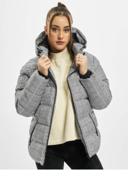 Urban Classics Puffer Jacket Ladies AOP Glencheck white