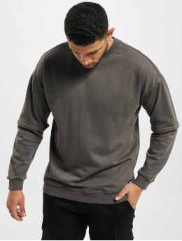 Urban Classics Pullover Zip Away Oversized Terry Crew black
