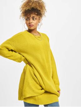 Urban Classics Frauen Pullover Wrapped in gelb