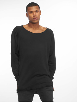 Urban Classics Pullover Long Open Edge Terry schwarz