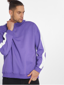 Urban Classics Pullover Oversize Stripe Troyer violet