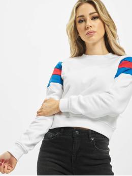 Urban Classics Pullover Sleeve Strip weiß