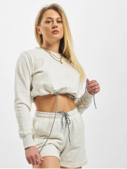 Urban Classics Pulóvre Ladies Oversized Cropped Crewneck šedá