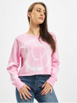 Urban Classics Puserot Ladies Tie Dye Cropped Crewneck vaaleanpunainen