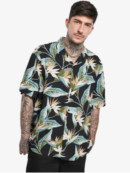 Urban Classics Shirt Blossoms Resort  black