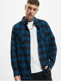 Urban Classics Shirt Checked Flanell blue