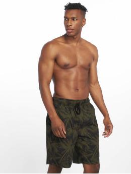 Urban Classics shorts Pattern Resort olijfgroen