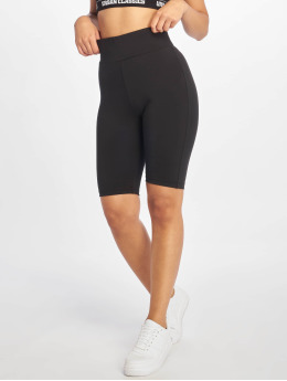 Urban Classics Frauen Shorts High Waist Cycling in schwarz