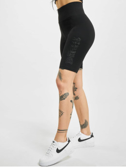 Urban Classics Shorts High Waist Branded Cycle schwarz